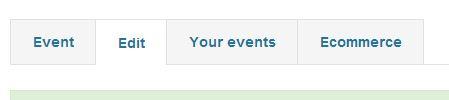 Edit Event Tabs